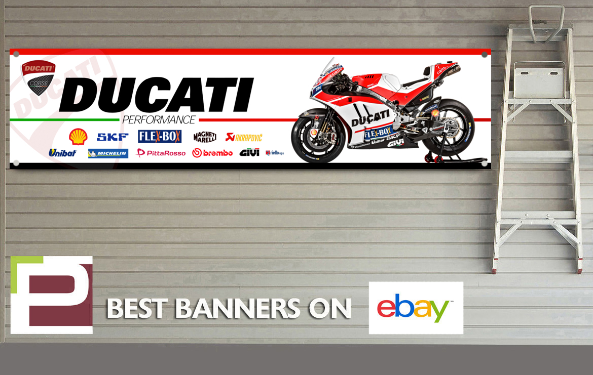 Ducati corse xl sponsor logo banner for workshop garage