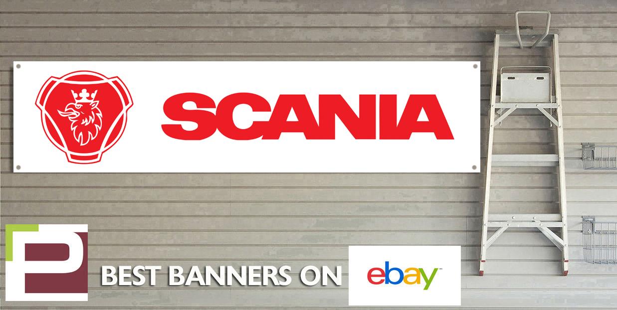 Scania trucks workshop garage banner ebay
