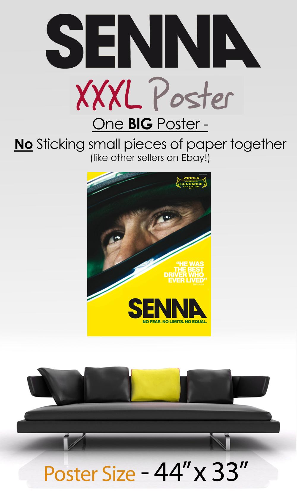 ayrton senna the movie poster art print best on ebay ebay. Black Bedroom Furniture Sets. Home Design Ideas