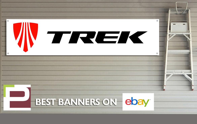 Trek bicycles banner pvc sign for workshop garage bike ebay